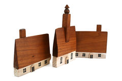 Wood Houses Stock Images