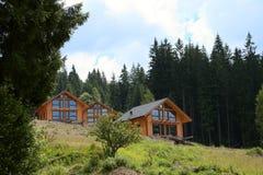 Wood Houses Construction Stock Photo