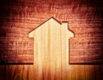 Wood hus royaltyfri illustrationer