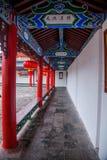 Wood hus Lijiang, Yunnan galleri Arkivfoto