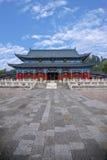 Wood hus Lijiang, Yunnan kammare Royaltyfria Foton