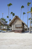 Wood hut on a tropical beach Stock Image