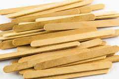 Wood ice-cream stick. On white background Stock Photo