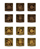 Wood icon. Wood shiny webdesign icons, illustrated vector illustration