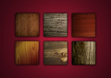 Wood Icons Royalty Free Stock Photo