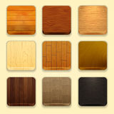 Wood icons Royalty Free Stock Images