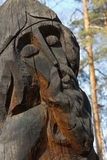 Wood idol. A wood idol from the russian forest Royalty Free Stock Photography