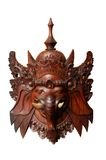 Wood indonesian mask : Ganesh. Brown wood indonesian mask of Ganesh, isolated on white background Royalty Free Stock Images