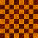 Wood Inlaid Floor  checkerboard seamless pattern Royalty Free Stock Photos