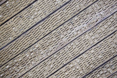 Wood with inlaid stones Stock Images