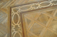 Wood inlay parquet floor. Parquet flooring with wood inlay works Stock Images