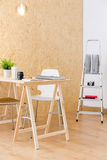 Wood interior of design studio Royalty Free Stock Images