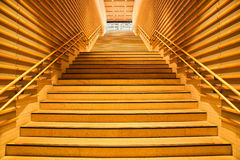 Wood interior stairs Stock Photography