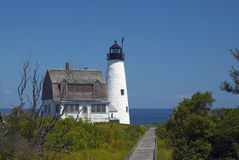 Wood Island Lighthouse in Maine Royalty Free Stock Images