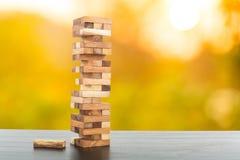 wood jenga game Stock Images
