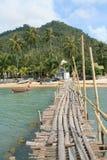 Wood jetty Stock Photo