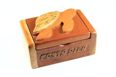 Wood Jewelry Box Royalty Free Stock Images