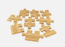 Wood   jigsaw Stock Photos