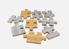 Wood   jigsaw Stock Photography