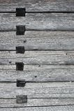 Wood joints in a house. Traditional wood architecture detail Royalty Free Stock Photography