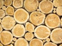 Wood journalhög Royaltyfria Foton