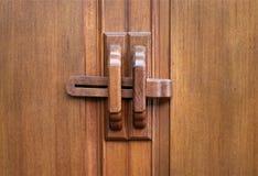 Wood key of door Royalty Free Stock Photography