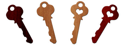 Wood Keys Collection Royalty Free Stock Photos