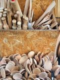 Wood Kitchen Implements Royalty Free Stock Images