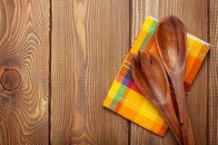 Wood kitchen utensils Stock Image