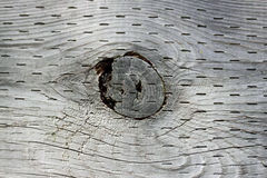 Wood Knot Hole. A knot hole in the center of a piece of wood lumber Royalty Free Stock Photos