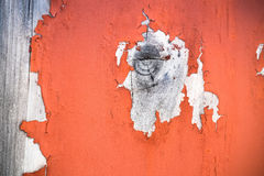 Wood knot with peeling paint Royalty Free Stock Photos