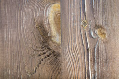 Wood with knots. Structure of wooden dostok bonded together Stock Photography