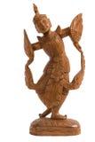 Wood konst för ängel i Thailand Royaltyfria Bilder