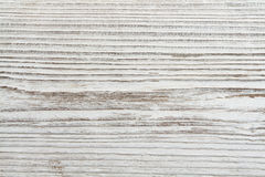 Wood korntextur, vit träplankabakgrund Arkivbild