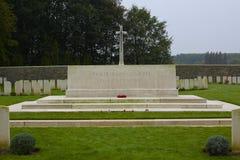 Wood kyrkogård för fristad, WWi, Ypres royaltyfri foto