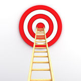 Wood ladder to center of the target Stock Images