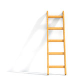 Wood ladder on white background Royalty Free Stock Photos