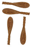 Wood ladle isolated Stock Photos