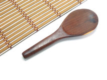 Wood ladle Royalty Free Stock Image
