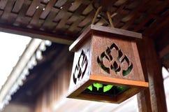 Wood lamp Royalty Free Stock Photo