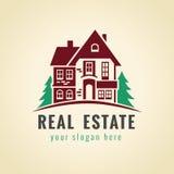 Wood land vector logo. Royalty Free Stock Photo