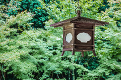 Wood Lantern at Koto-in Temple in Kyoto Stock Image