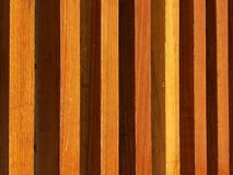 Wood Lath Wall background on horizontal planks. As a background Stock Image