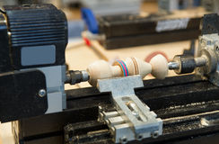 Wood lathe Stock Photos