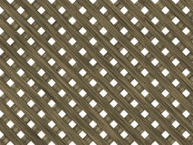 Wood lattice of diagonal planking Royalty Free Stock Photo