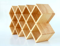 Wood Lattice Display Rack Royalty Free Stock Image