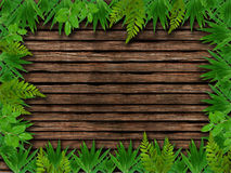 Wood And Leaves Nature background Royalty Free Stock Photography