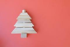 Wood leksak i trädform Arkivfoton
