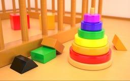 Wood leksaker Arkivbilder