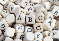 Wood letter blocks Stock Photo